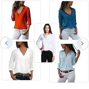 camisas mujer lisas
