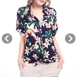Camisas de flores para mujer