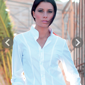 Camisas mujer cuello Mao